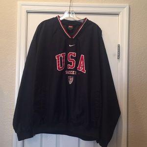 L Nike V-neck Windbreaker Pullover U.S. Soccer ⚽️